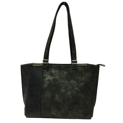 Karen Teodora dámská kabelka do ruky a přes rameno v modro – šedá 0faf00dc06c